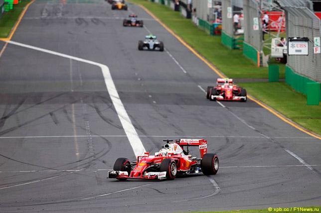 Пилоты Ferrari на Гран При Австралии