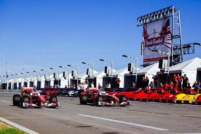 Гонщики Скудерии на фестивале Ferrari Racing Days в Дайтоне