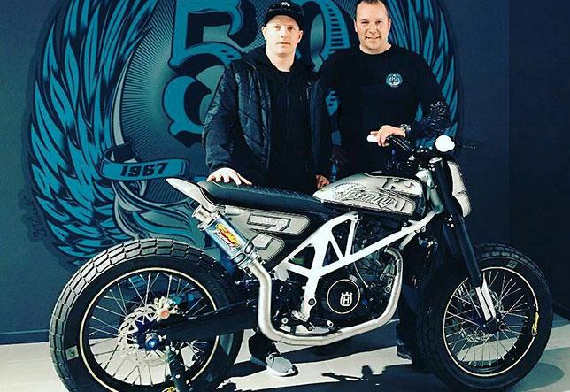 Кими Райкконен, Райнер Бехли и уникальный мотоцикл Husqvarna F1-690