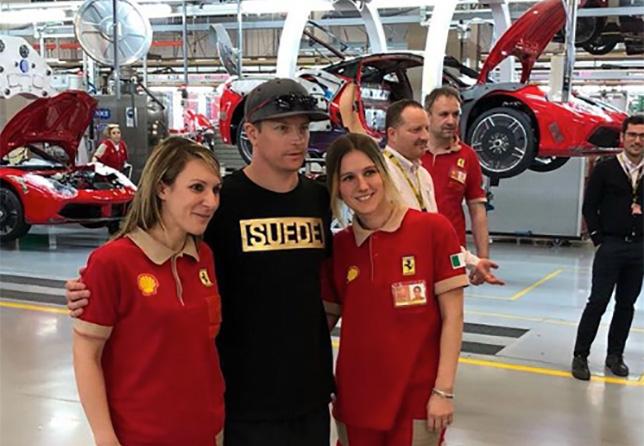 Кими Райкконен на заводе Ferrari в Маранелло