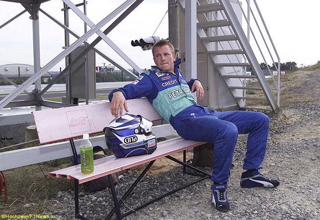 Кими Райкконен на Гран При Японии 2001 года в период выступлений за Sauber