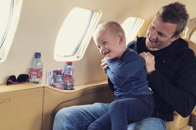 Кими Райкконен вместе с сыном Робином