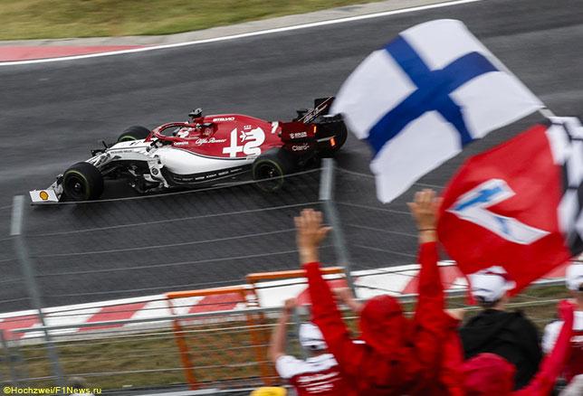 Кими Райкконен на трассе Гран При Венгрии