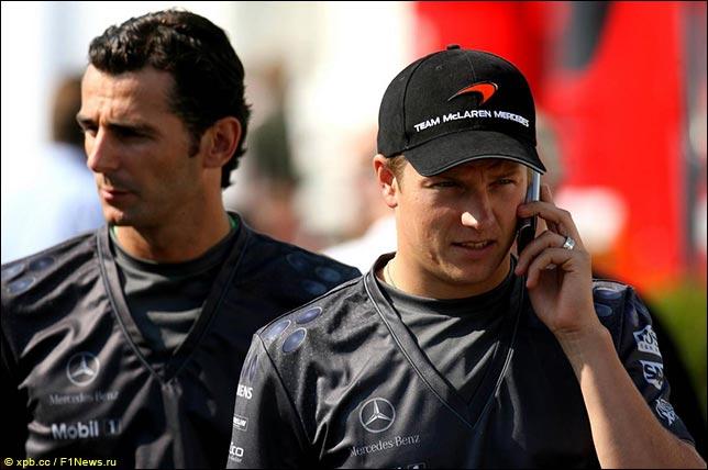 Педро де ла Роса и Кими Райкконен в McLaren. Гран При Германии 2006.