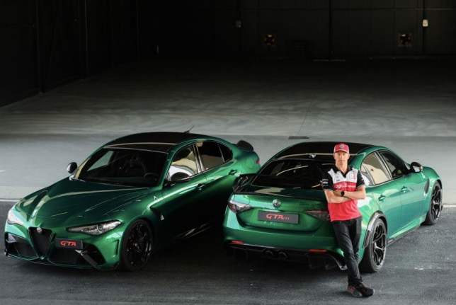 Кими Райкконен на испытаниях машин Alfa Romeo