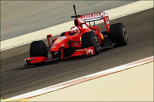 Кими Райкконен на тестах в Бахрейне