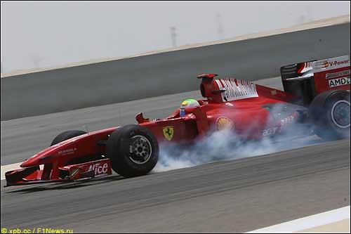 Фелипе Масса на трассе в Бахрейне