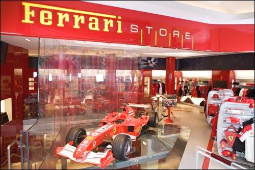 Лондонский магазин Ferrari