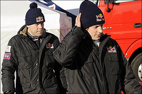 Кими Райкконен (справа) и его штурман Кай Линдстрём