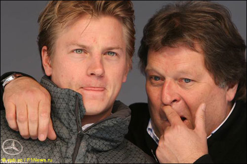 Кими Райкконен и Норберт Хауг в 2006-м