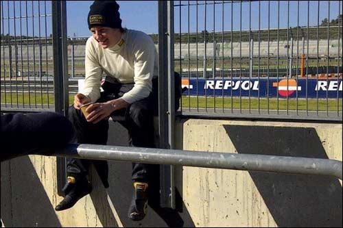 Кими Райкконен в перерыве между заездами в Валенсии