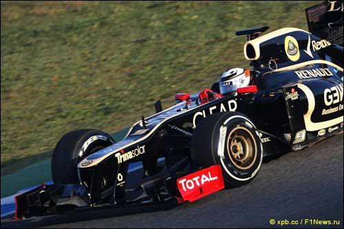 Кими Райкконен за рулем E20 на тестах в Хересе