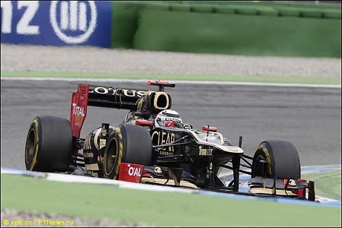 Кими Райкконен на трассе Гран При Германии