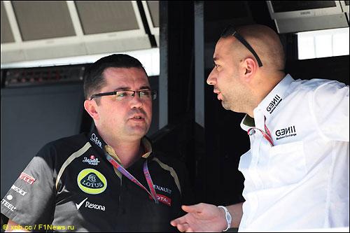 Жерар Лопес (справа) и Эрик Булье, руководитель команды