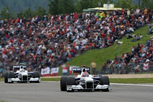 Гран При Германии. Роберт Кубица (на переднем плане) и Ник Хайдфельд