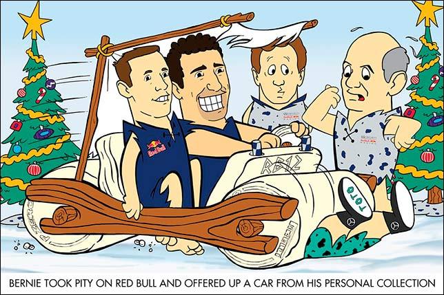 Рождественская открытка от Red Bull Racing