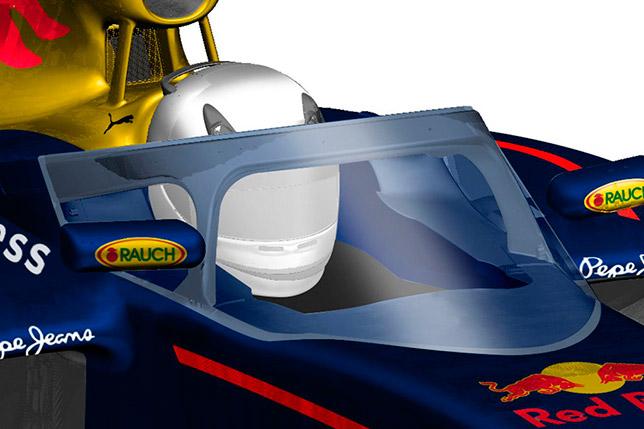 Изображение защиты головы пилота, предложенной Red Bull Racing
