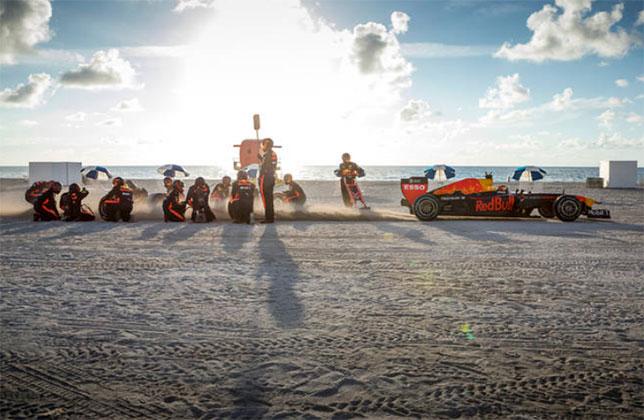 Пит-стоп Макса Ферстаппена на пляжах Флориды