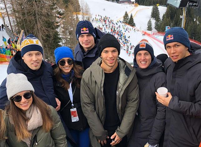 Гонщики Red Bull и AlphaTauri в Кицбюэле