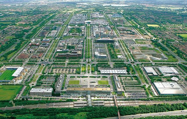 Милтон-Кинс с высоты птичьего полёта, фото с официального сайта города