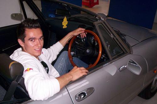 Михаил Алешин за рулем Alfa Romeo