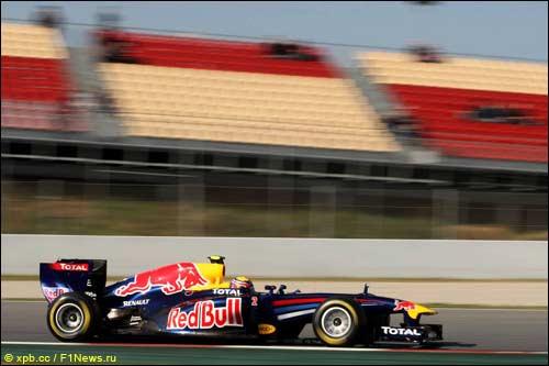 Марк Уэььер, Red Bull Racing. Тесты в Барселоне