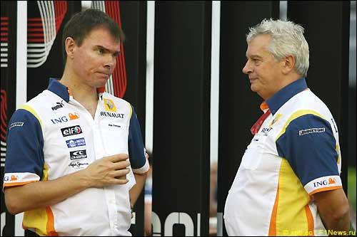 Алан Пермейн и Пэт Симондс. Гран При Сингапура'08