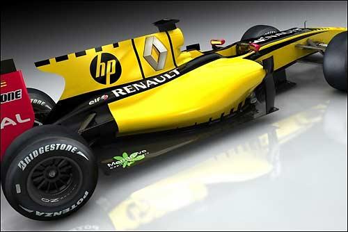 Машина Renault с логотипом HP