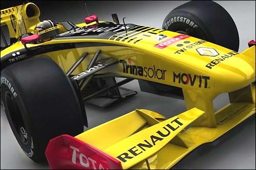 Логотип Trina Solar на машине Renault F1