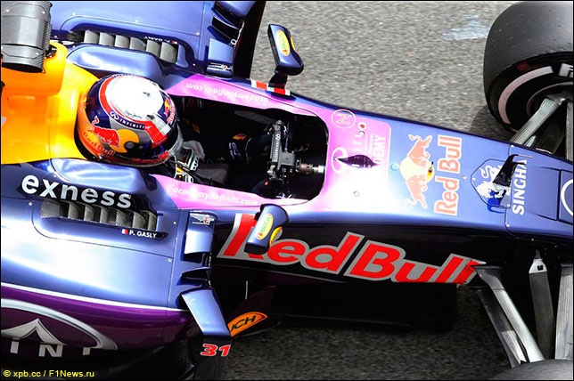 Пьер Гасли на тестах Red Bull Racing