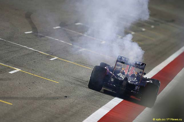 Проблемы с двигателем на машине Даниэля Риккардо в Бахрейне