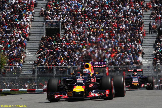 Даниэль Риккардо и Макс Ферстаппен на прошлогоднем Гран При Канады
