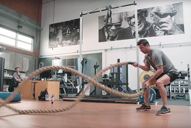 Даниэль Риккардо на тренировке в Лос-Анжелесе