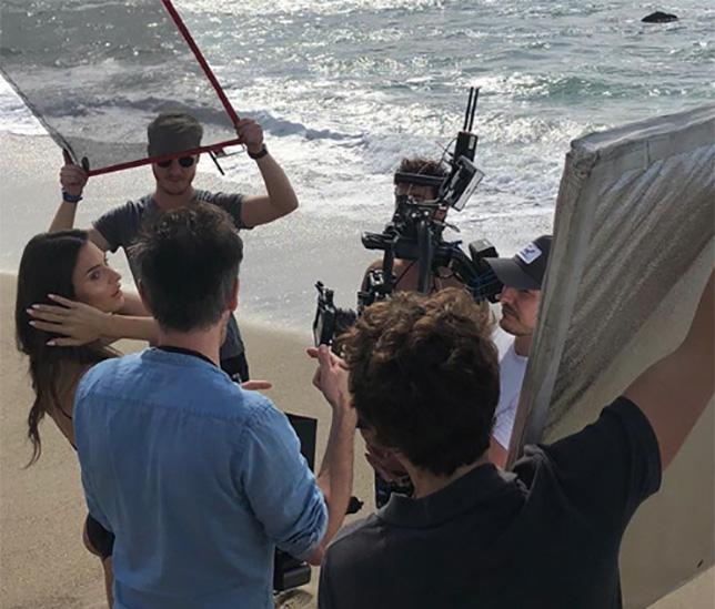 Эпизод процесса съёмок