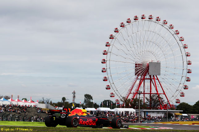 Даниэль Риккардо на прошлогоднем Гран При Японии