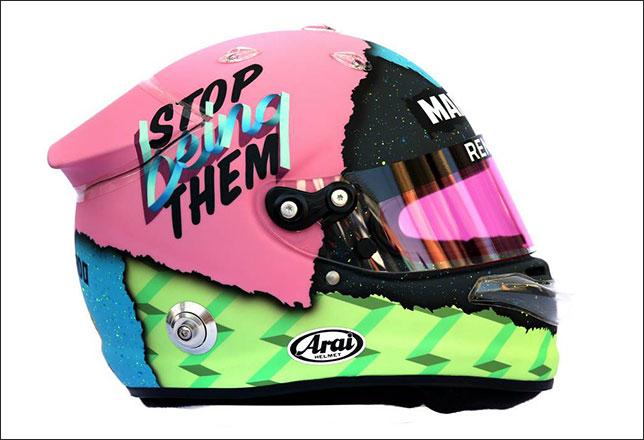 Новый шлем Даниэля Риккардо