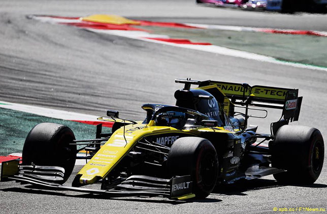 Даниэль Риккардо на трассе Гран При Испании