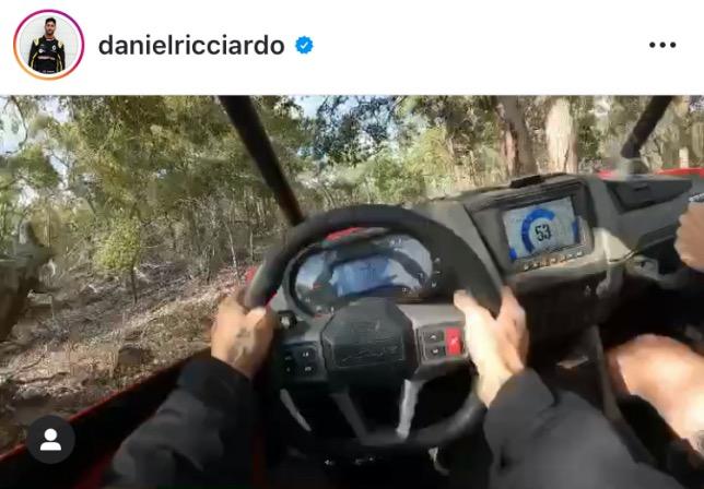 Один из кадров видеозаписи, которой поделился Даниэль Риккардо