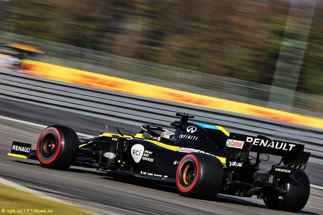 Даниэль Риккардо на трассе Гран При Айфеля