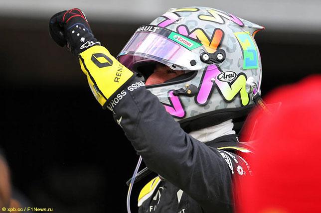Даниэль Риккардо финишировал 3-м в Гран При Айфеля