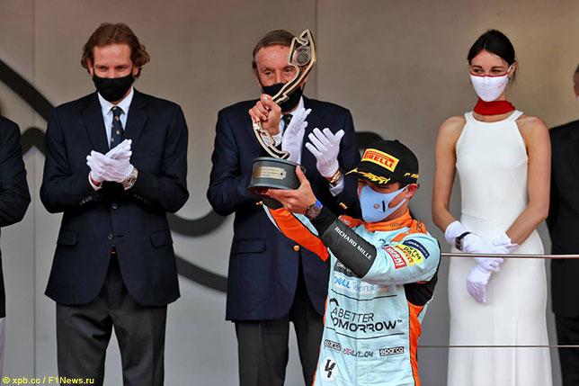 Ландо Норрис - третий призёр Гран При Монако
