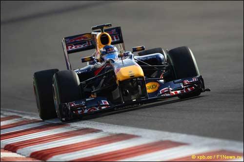Даниэль Риккардо на Red Bull RB6 стал автором лучшего времени молодёжных тестов в Абу-Даби