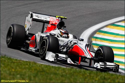Ян Хароуз на трассе Гран При Бразилии