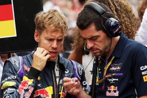 Гран При Монако - 2014. Гийом Рокелен (справа) и Себастьян Феттель