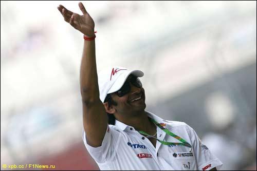 Нараин Картикеян на прошлогоднем Гран При Индии