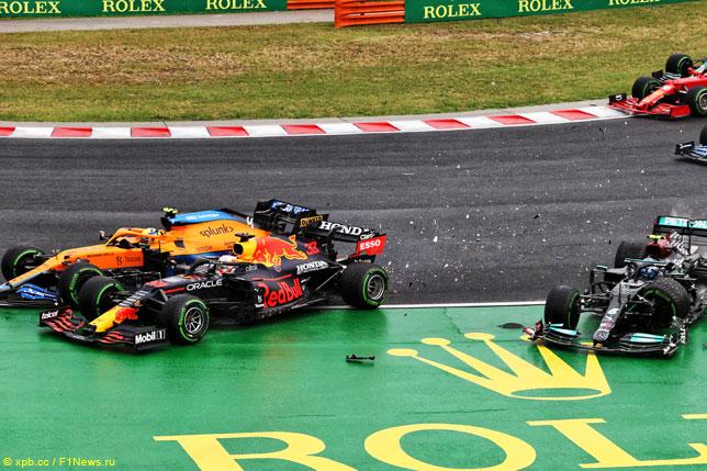 Авария на старте Гран При Венгрии