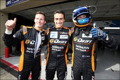 Пилоты G-Drive Racing Майк Конвэй, Роман Русинов и Джон Мартин
