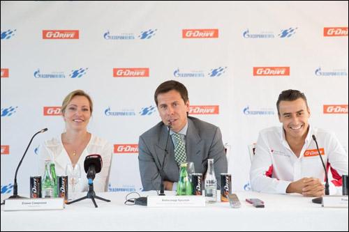 Елена Смирнова, Александр Крылов и Роман Русинов на пресс-конференции, посвящённой старту нового сезона