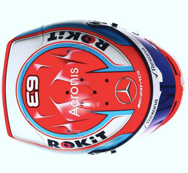 Новый шлем Джорджа Расселла