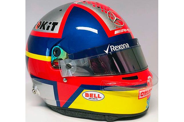 Дизайн шлема Джорджа Расселла, повторяющий дизайн шлема Хуана-Пабло Монтойи